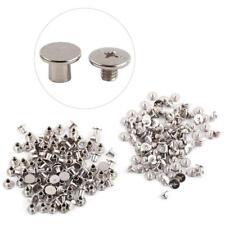 100Pcs Smooth Photo Album Nickel Binding Chicago Screws Nail Rivets 5x6mm Silver