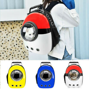 Pet Portable Carrier Backpack Space Capsule Travel Dog Cat Bag Transparent Crate