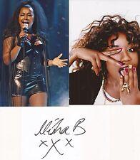 MUSIC* MISHA B SIGNED 3x5 WHITECARD+2 UNSIGNED PHOTOS+COA *DO YOU THINK OF ME*
