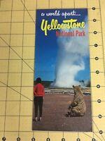 Vintage Travel Brochure A World Apart Yellowstone National Park Geyser Bear