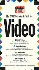 SCHOLASTIC & NBC NEWS immigration VHS Zlata's Diary 1994 Native Americans WW2