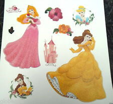Stickers muraux paillettés Princesses Disney Belle Aurore Cendrillon