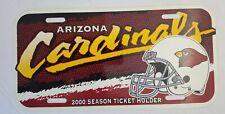 ARIZONA CARDINALS 2000 Season Ticket Holder PLASTIC LICENSE PLATE NFL Football