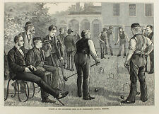 GAME of Croquet Bartholomew's, krocket, the London Illustrated News 1873 Garland