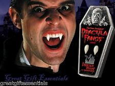 DRACULA FANGS CUSTOM VAMPIRE TEETH Adult LARGE Costume Coffin Twilight Blood Men