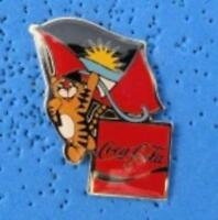 1988 Coca Cola Ltd Edition Flag Pin - Antigua & Barbuda
