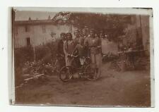 ANTICA FOTO DI  ASTI 1931 BAMBINI E PICCOLA BICI BICICLETTA CM 6 X 8,5