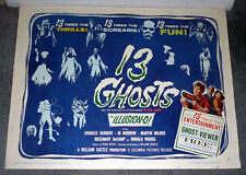 13 GHOSTS original rolled 1960 22x28 movie poster WILLIAM CASTLE