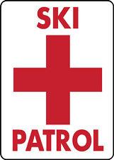 Ski Area Snowboard Sign Ski Patrol warning run slope aluminum sign