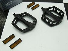 """New RRC 1/2"""" Shaft BLACK ALLOY Old School BMX Freestyle Bicycle PEDALS"""