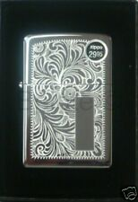 Zippo Venetian High Polish Chrome Lighter # 352 NEW