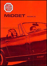 MG Midget Mark III Owners Manual 1970 1971 1972 Drivers Handbook Guide Book