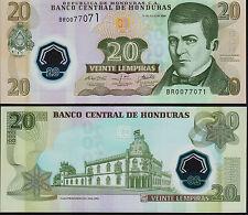 Honduras 20 Lempiras 2008 Polymer, P95 Mint Unc