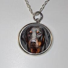 Dobermann-Hund Doberman dog  Halskette Necklace - D2