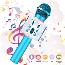 Wireless bluetooth Handheld Karaoke Microphone Speaker USB KTV Player Mic