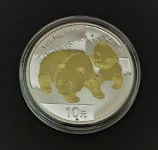 Panda 2008 -  silver gilded