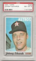 1970 TOPPS #339 JOHNNY EDWARDS, PSA 8 NM-MT, HOUSTON ASTROS, L@@K !
