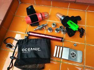 Mixed joblot SCUBA diving gear Dive Aqua strobe, SeeMann Sub used parts