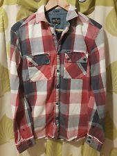 Mens Boys Wrangler Regular Fit Check Shirt Thick Cotton Red Blue White