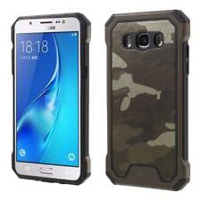 Samsung Galaxy J5 (2016) Trekking Handy Tasche TPU Hybrid Camouflage Cover Braun