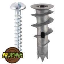 PLASTERBOARD FIXINGS SELF DRILL CAVITY WALL SPEED ANCHOR PLUGS INCLUDING SCREWS
