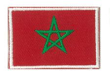 Écusson patche patch drapeau MAROC petit 45 x 30 mm brodé thermocollant