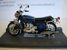 Honda Gl 1000 Gold Wing 1975 Blue Top Model 1:24