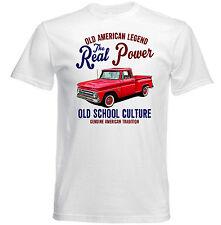 VINTAGE Americano CHEVROLET PICK UP C10-Nuovo T-shirt di cotone