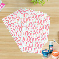 10 sheets White Sticker self adhesive labels name tags price sticker offic IJ