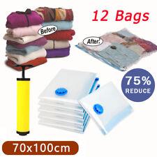 12pcs X-large 70x100cm Vacuum Storage Seal Compressing Bags Saver Space Saving