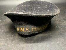 More details for antique ww1 genuine hms condor sailors cap hat & tally r dugdale genuine navy uk
