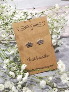 Lotus Stud Earrings, Lotus Earrings, Lotus Gift, Lotus Jewelry, Yoga Gift, Lotus