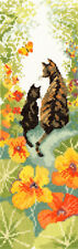 Bothy Threads ~ Counted Cross Stitch Kit ~ Follow Me 1 ~ Cats ~ XFM1