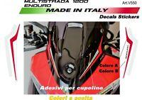 Adesivi per cupolino plexi Ducati Multistrada 1200 Enduro