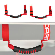 2 x Red Roll Bar Grab Handles Off Road Accessory For Jeep Wrangler JK TJ 97-17