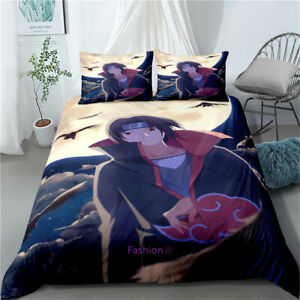 Single/Double/Queen/King Bed Doona/Duvet/Quilt Cover Set Anime Naruto Purple