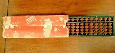 "Vintage SUN Miniature Abacus In Original Box Japan Approx. 6 1/2"" x 2"""