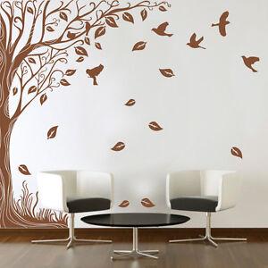 Large Side Wall Tree Sticker & Birds Home DIY Wall Art Vinyl Wall Sticker Decal