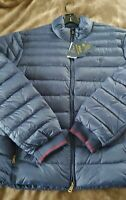 NWT XL Mens Polo Ralph Lauren Packable Quilted Down Puffer Jacket Coat Navy