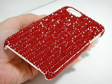 Red Ruby Made with Swarovski Crystals White Bling Case Cover Skin for iPhone 5C