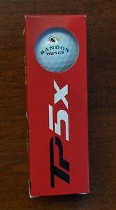 Bandon Dunes Golf TaylorMade Balls Sleeve TP5x Puffin Logo 3 Urethane + BONUS!