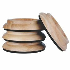 Kingpoint Piano Coaster, Furniture Coaster from hardwood, 4er-set Oak Natura