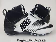 Nike Lunarbeast Pro Football Cleats Shoes TD Strike D White Black Sz Size 13 NEW
