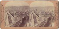 Vista De Niza Francia Foto Estéreo Stereoview Vintage