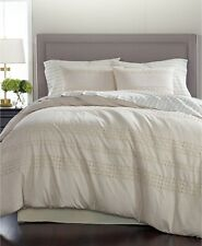 Martha Stewart Eyelet 8 Piece Queen Comforter Set Stripe Cotton Slate
