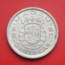 Portugal-Macau: 5 Patacas 1952 Silber, KM# 5, F#1866, VZ-XF