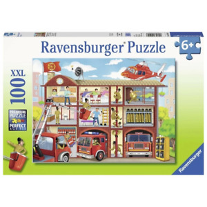 Ravensburger RB10404-8 Firehouse Frenzy 100pc Jigsaw Puzzle Brand New