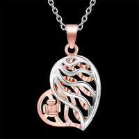 New  Girls Women Hollow Silver Plated Heart Jewelry Necklace Pendant Chain Gift