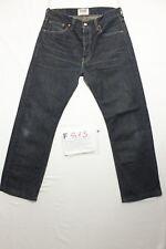 Levi's 501 ltd accorciato indigo boyfriend jeans usato (Cod.F813) Tg.46 W32 L34