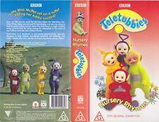 TETETUBBIES NURSERY RHYMES VHS VIDEO PAL~ A RARE FIND